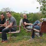 Photo of Matthew Fries, Tony Romano, Keith Hall, and Phil