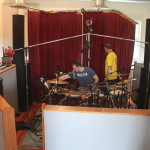 Keith and George setting up the drums!